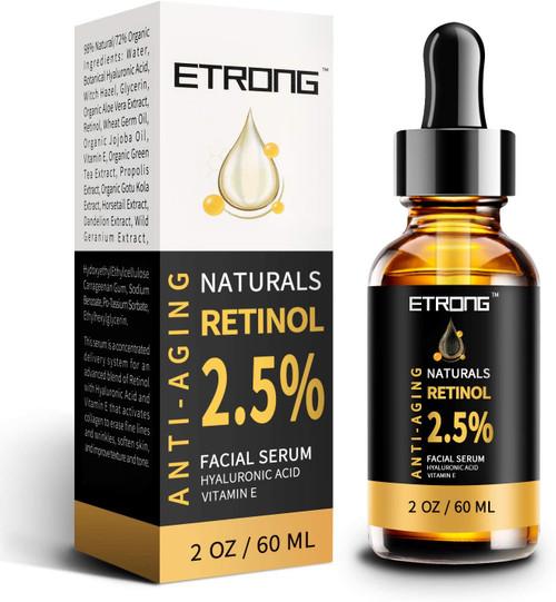 2oz Retinol Serum ETRONG High Strength Anti-aging Serum-60ml