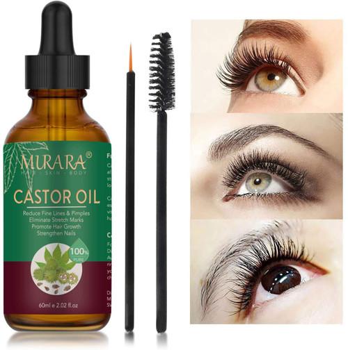 Castor Oil for Eyelashes & Eyebrows Hair Growth