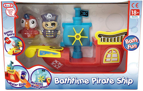 A to Z Suirty Bath Time Pirate Ship Toy