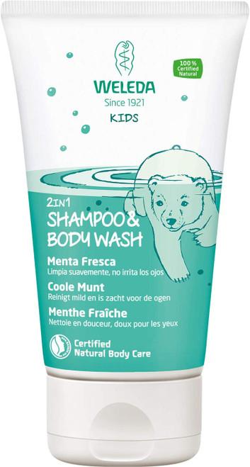 Weleda Mighty Mint Kids 2 in 1 Shampoo and Body Wash - 150 ml