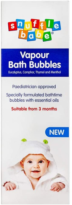 Snufflebabe Soothing Vapour Baby Bath Bubbles with Essential Oils - 330ml
