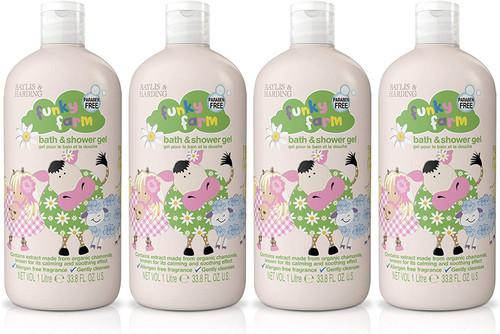Baylis & Harding Funky Farm Fresh Skin Bath and Shower Gel - Pack of 4