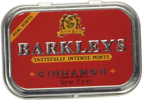 Barkleys Sugar Free Cinnamon Intense Mini Mints Tin - 15 g