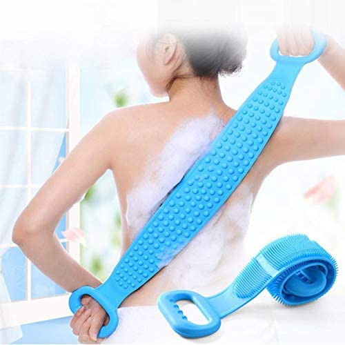 Double Sided Silicone Back Body Scrubber Brush