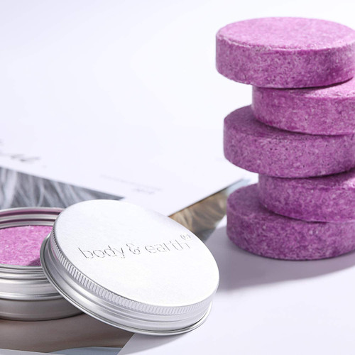BODY and EARTH Solid Lavender Shampoo Bar with Tin Container - 6 Pcs