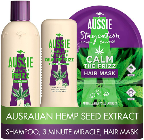 Aussie Calm The Frizz Shampoo and Conditioner With a Hair Mask Set