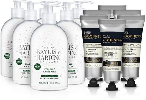 Baylis and Harding Lemongrass and Ginger Hand Cream and Hand Sanitiser Set