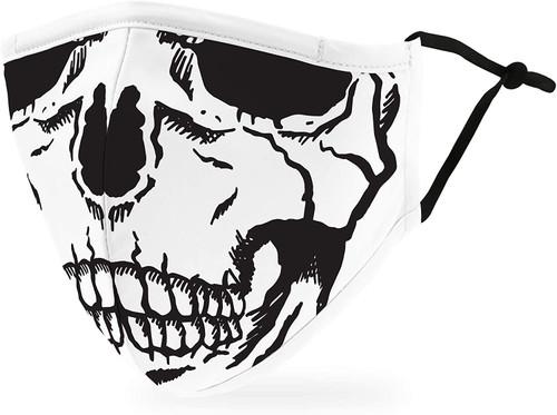 Weddingstar Flexible Wire Nose Cotton Face Mask - Skull