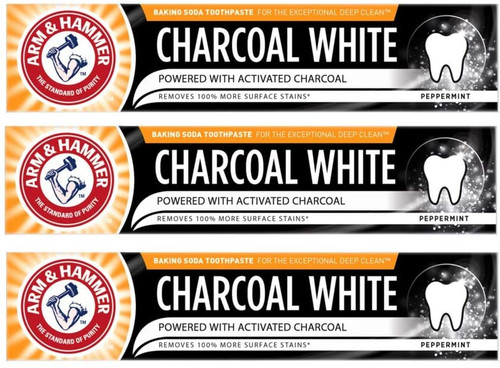 Arm and Hammer Deep Clean Charcoal White Peppermint Toothpaste - 3 Pack