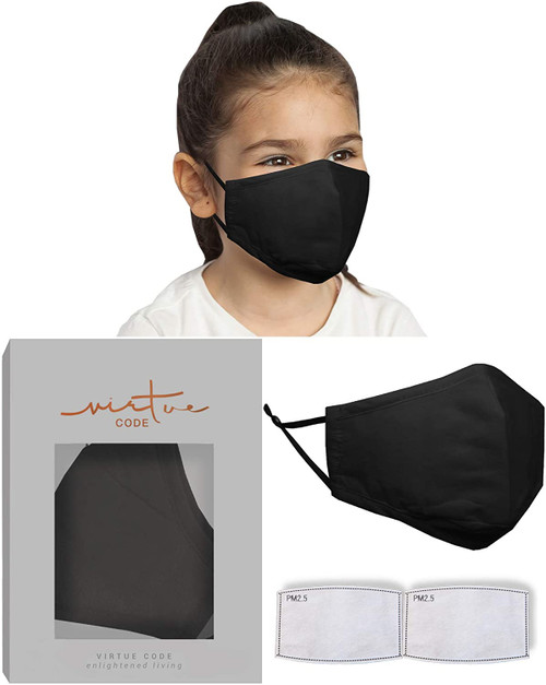 Virtue Code Children Soft Cotton Face Mask with Filter
