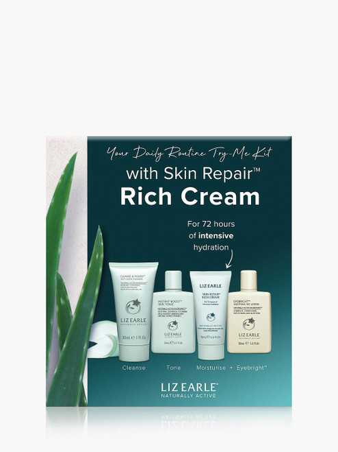Liz Earle Your Daily Routine with Skin Repair Rich Cream Try-Me Kit