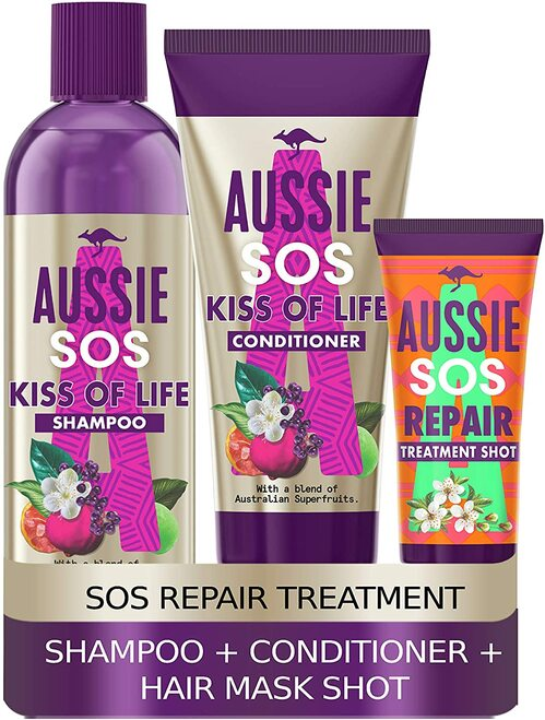 Aussie SOS Deep Treatment Shampoo and Conditioner Set