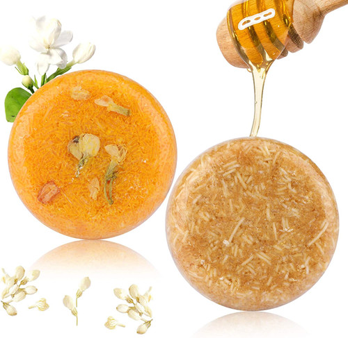 2PCS Hair Shampoo Bar-Jasmine And Honey