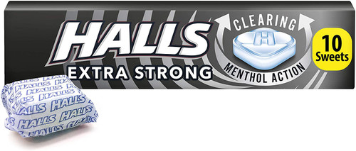 Halls Extra Strong Menthol Action Sweets - 10 Pcs