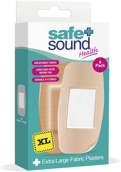 Safe and Sound Extra Large Fabric Soft Plasters - 6 Pack