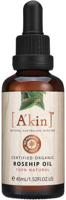 A'kin Certified Organic Rosehip Oil-45 ml