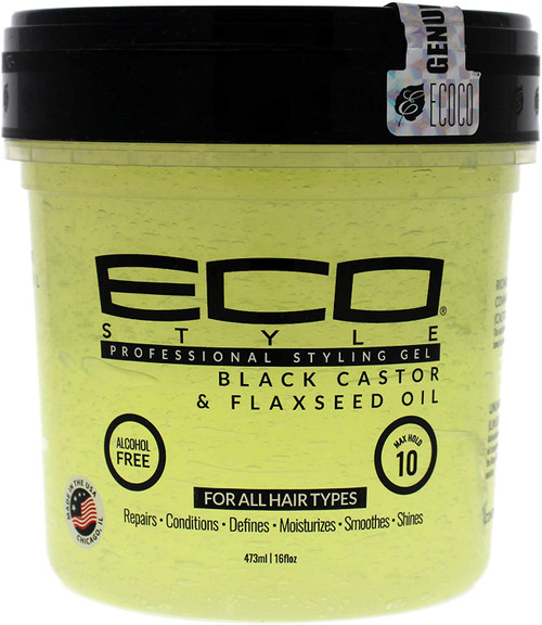 Eco Style Black Castor and Flax Seed Oil Styling Gel - 473 ml