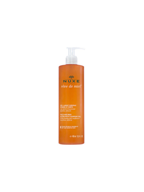NUXE Rêve de Miel Cleansing Gel Face and Body Ultra-Rich-400ml