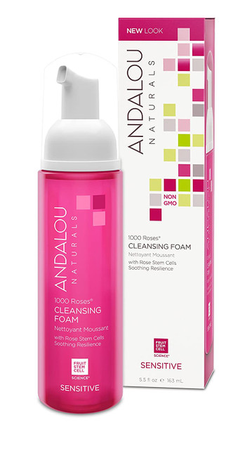 Andalou Naturals 1000 Roses Cleansing Foam-5.5 Ounce