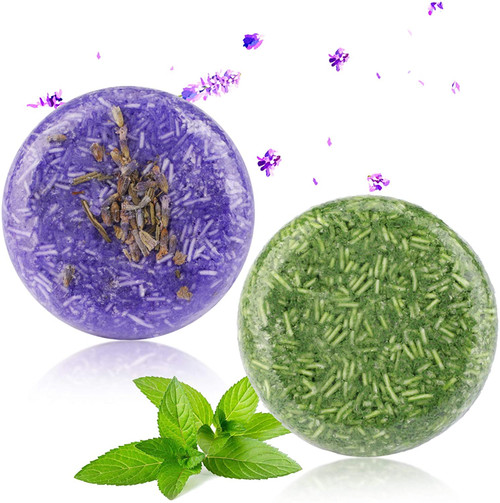 2PCS Hair Shampoo Bar-Lavender And Mint