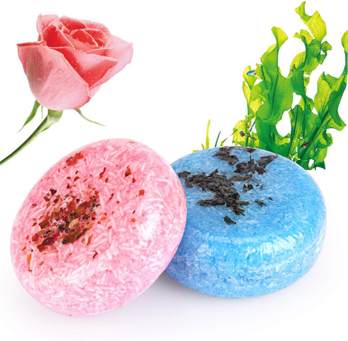 2PCS Hair Shampoo Bar Rose And Seaweed