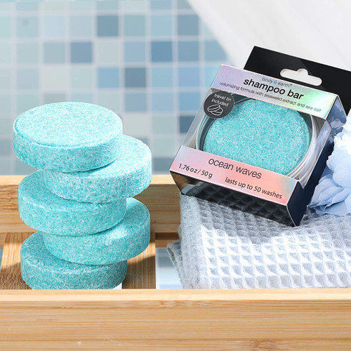 BODY and EARTH Ocean Scent Shampoo Bar with Tin Container - 6 Pcs