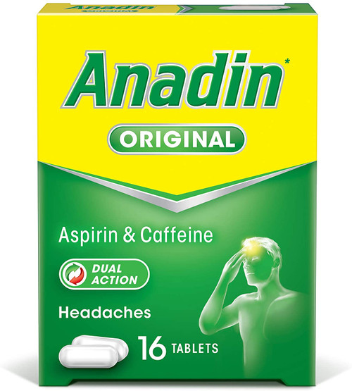 Anadin Original Dual Action Headache Pain Relief Tablets - 16 Tablets