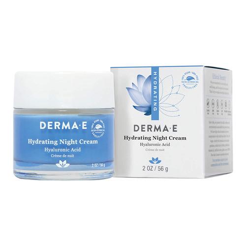 DERMA E Hydrating Night Cream with Hyaluronic Acid-2oz