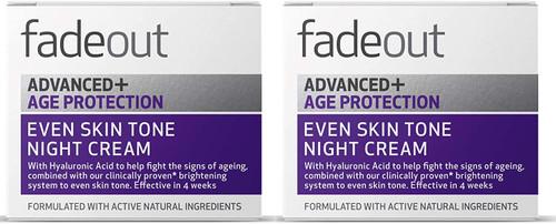 Fade Out Advanced+ Age Protection Even Skin Tone Night Cream-2x50ml