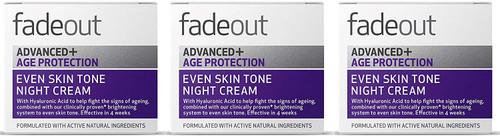 Fade Out Advanced+ Age Protection Even Skin Tone Night Cream-3x50ml