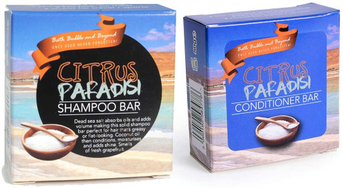 Bath Bubble and Beyond Shampoo Conditioner Bar Set-Citrus Paradis