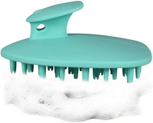 Evelure Scalp Massage Shampoo Brush Silicon Scalp-Green