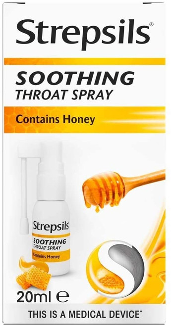 Strepsils Honey Flavour Soothing Throat Spray - 20ml