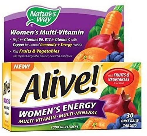 Alive Fruits and Vegetables Blend Women Energy Multivitamins - 30 tablets