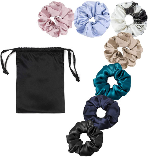 LilySilk Pure Silk Charmeuse Scrunchy-7 Random Color
