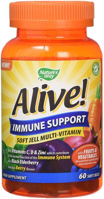 Alive Immune Support Berry Flavour Multivitamins - 60 Gummies