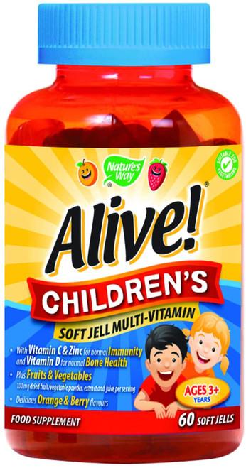 Alive Children Chewable Orange and Berry Flavour Multivitamins - 60 Gummies