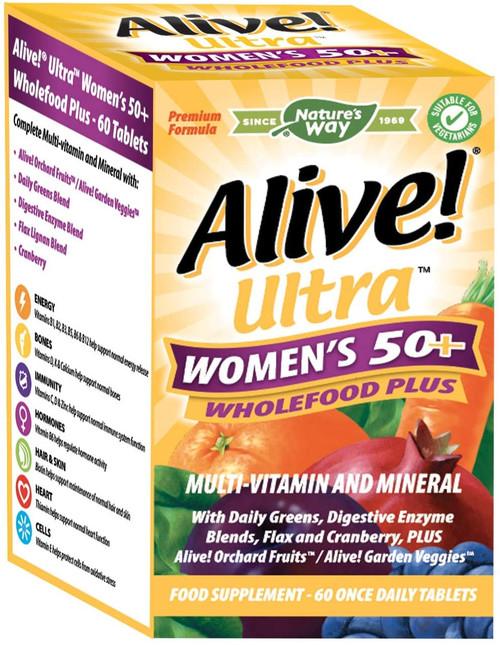 Alive Ultra Women 50 Plus Wholefood Minerals Multivitamins - 60 Tablets