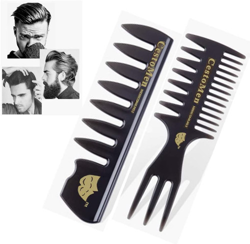 Mens Styling Comb Pompadour Streaker Afro Hair