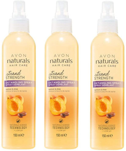 3 x Naturals Haircare Golden Apricot And Shea Detangling Spray
