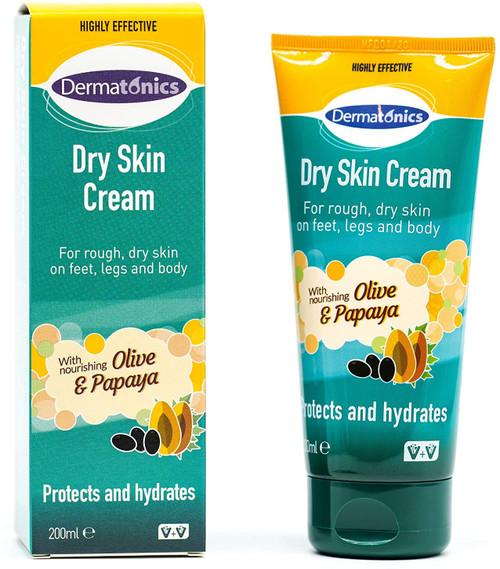 Dermatonics Natural Care Dry Skin Olive and Papaya Cream - 200ml