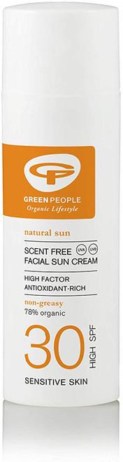 Green People Scent Free Facial SPF30 Sun Cream-50ml