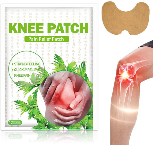 Quick Knee Pain Relief Self Heating Herbal Patches - 24 Pcs