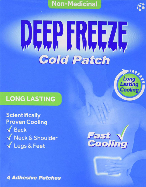 Deep Freeze Lasting Cooling Pain Relief Cold Patches - Pack of 4