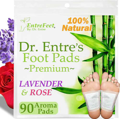 Dr Entre's Impurity Removal Lavender and Rose Detox Foot Pads - 90 Pack