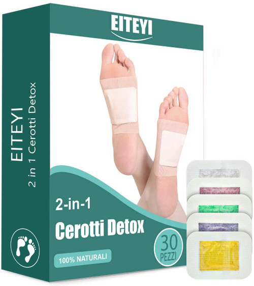 EITEYI Natural Herbs 2 in 1 Detox Foot Care Detox Pads - 30 Pieces