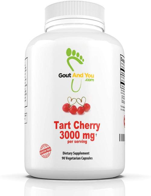 GoutandYou Tart Cherry Extract Dietary Supplements - 90 Capsules