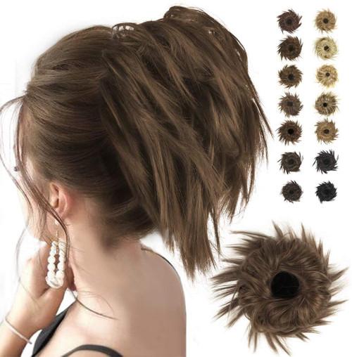 Messy Hair Bun for Women-Cheshnut Brown And Auburn