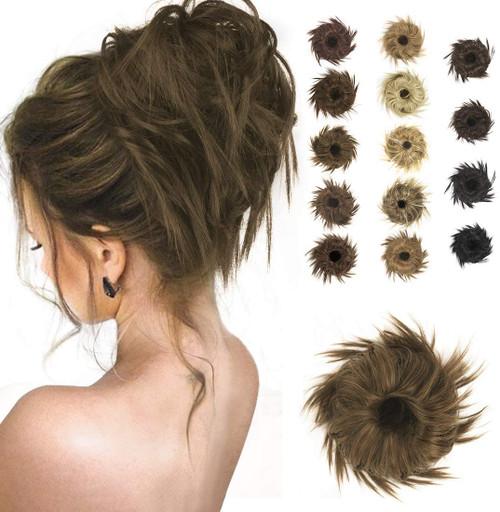 Messy Hair Bun for Women-Golden Brown