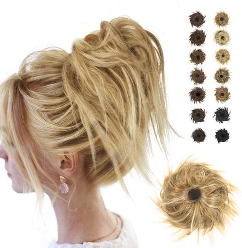 Messy Hair Bun for Women-Bleach Blonde
